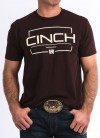 S/S Tee in Heather Burgundy by Cinch