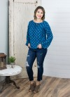 L/S Top with Tie Detail in Jade