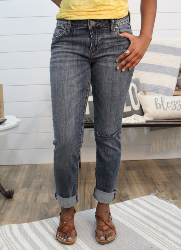 Catherine Boyfriend 5 pkt Jean in Ucmnm by Kut from the Kloth