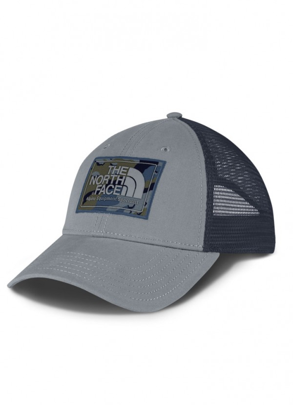 Mudder Trucker Hat in Mid Grey/Shady Blue Camo by The North Face
