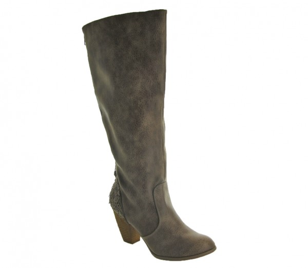 Sass It Up Boot in Taupe by Not Rated