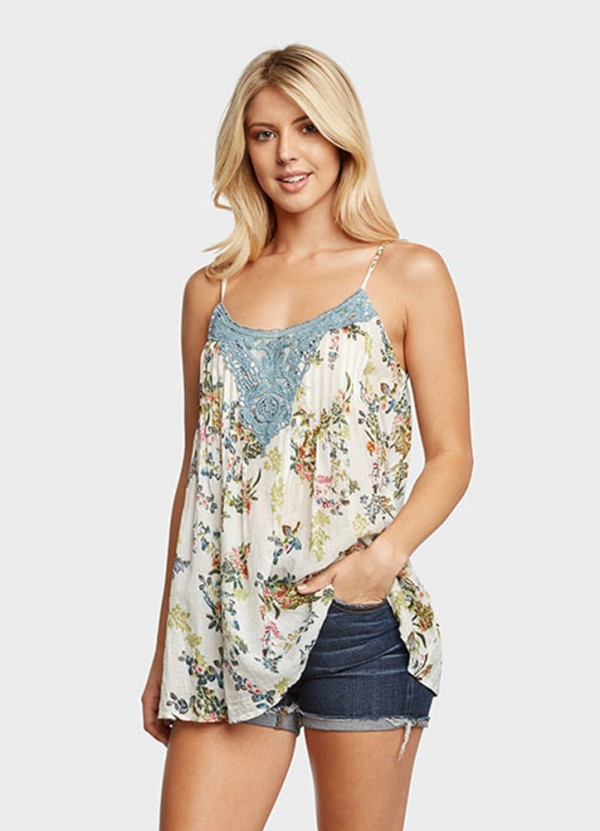 Aurora Blue CGRN Cami by Boho Jane