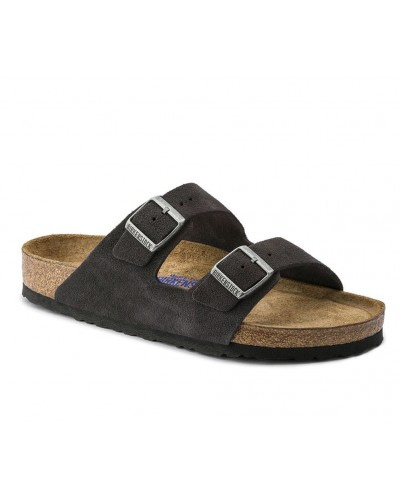 Arizona SFB Regular Fit in Velvet Grey Suede by Birkenstock