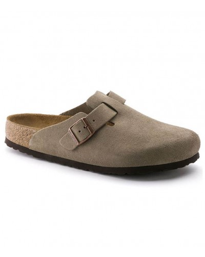 Boston Narrow Taupe Suede by Birkenstock