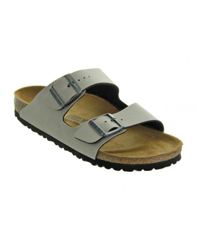 Arizona in Stone Pull-Up Birko-Flor Narrow Width by Birkenstock