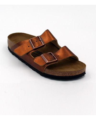 Arizona in Washed Metallic Antique Copper Narrow Fit by Birkenstock