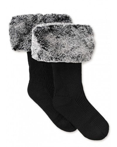 Faux Fur Tall Rainboot Sock in Charcoal by UGG