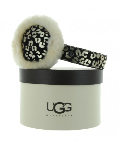 Leopard Earmuff in Black by UGG