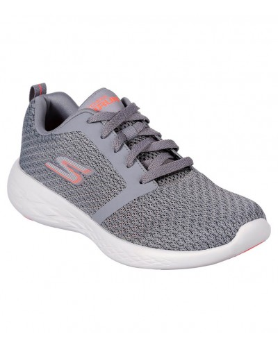 Go Run 600 Circulate in Grey/Coral by Skechers