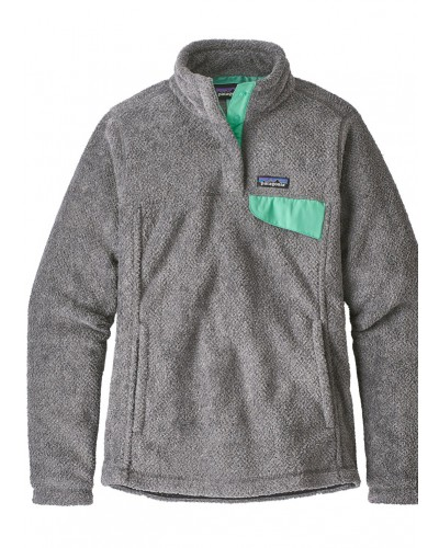 Women's Re-Tool Snap-T Pull Over in Ink Black/Vjosa Green by Patagonia