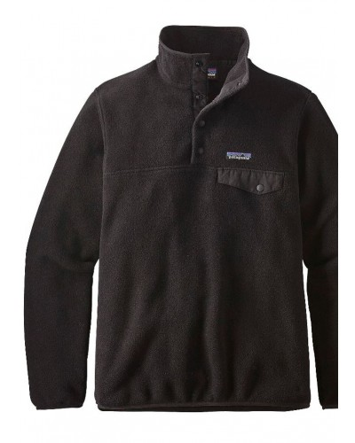Women's LW Synch Snap-T Pullover in Black/Black by Patagonia