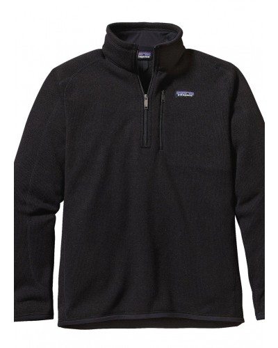 Men's 1/4 Zip Better Sweater in Black by Patagonia