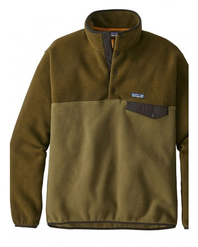 LW Synch Snap-T Pull Over in Cargo Green by Patagonia