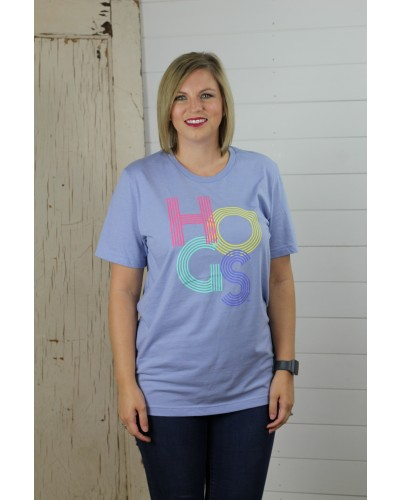 Colorful Hogs in Heather Blue by Southern Trend