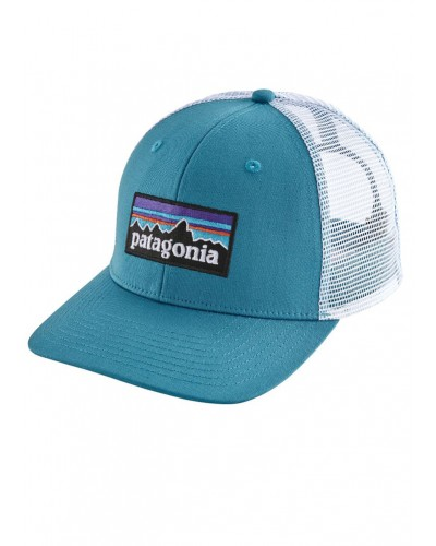 P-6 Logo Trucker Hat in Lumi Blue by Patagonia
