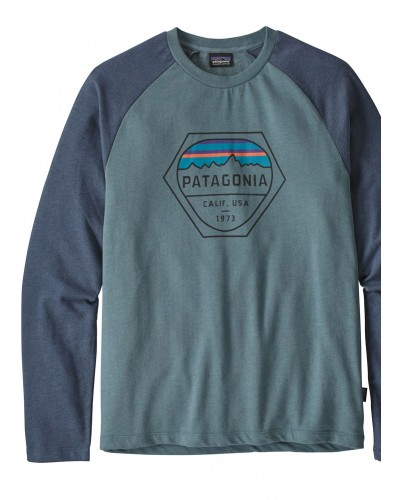 Fitz Roy Hex LW Crew Sweatshirt in Shadow Blue