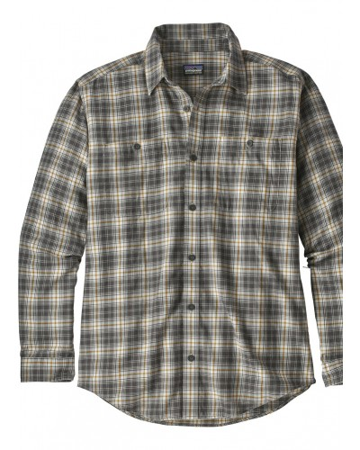 L/S Pima Shirt in Paddler:Tailored Grey by Patagonia