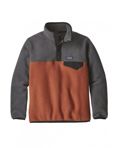 Kids LW Synch Snap T Pullover in Copper Ore by Patagonia