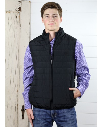 Polyester H-Vest in Polo Black by Chaps