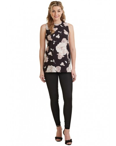 Tripp Sleeveless Top in Floral by Mudpie