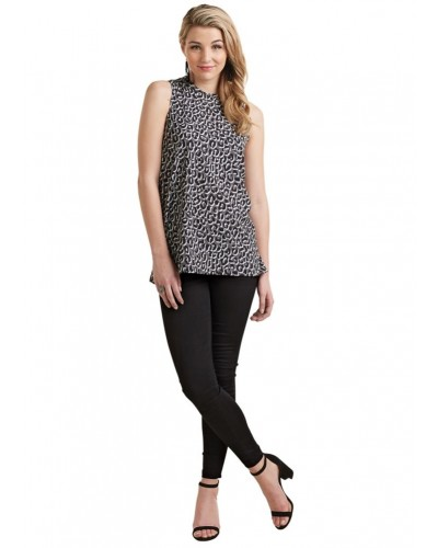 Tripp Sleeveless Top in Gray by Mudpie
