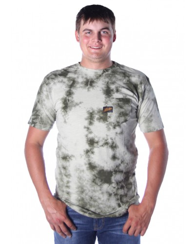 Standard Supply S/S Tee in Sage/Olive Crystal Wash by Affliction