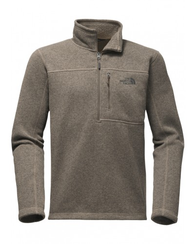 Gordon Lyons 1/4 Zip in Falcon Brown Heather by The North Face