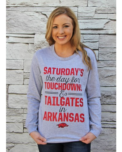 Arkansas Touchdowns & Tailgates Tee