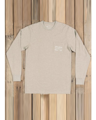 L/S Authentic Tee in Washed Burnt by Southern Marsh