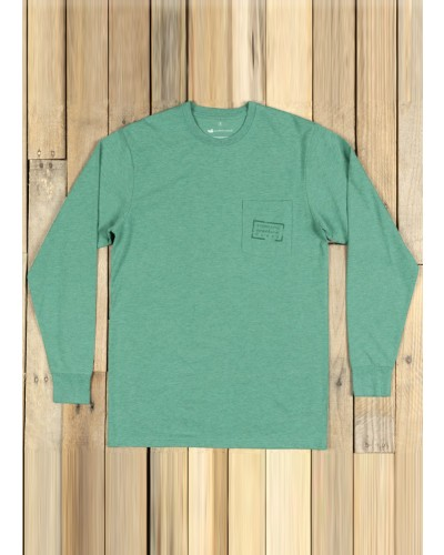 L/S Authentic Tee in Washed Hunter by Southern Marsh