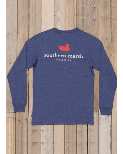 Long Sleeve Authentic in Washed Navy by Southern Marsh