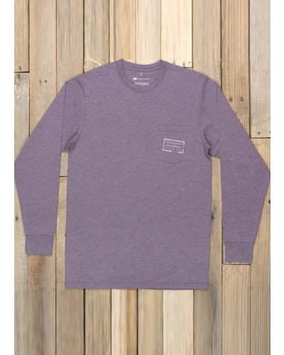 L/S Authentic Tee in Washed Iris by Southern Marsh