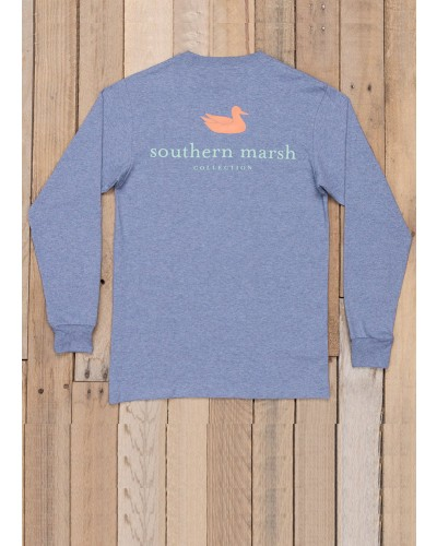 LS Authentic Tee Shirt in Washed Slate by Southern Marsh