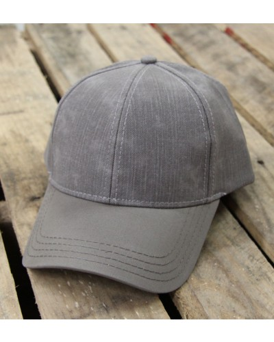 Distressed Baseball Cap in Grey by CC Beanie