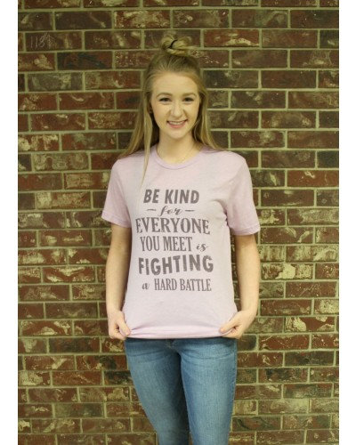 Be Kind Tee in Lilac by Costa Threads