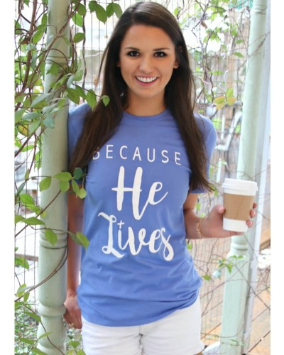 Because He Lives S/S in Blue Violet by ATX Mafia