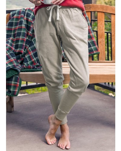 Seawash Joggers in Burnt Taupe by Southern Marsh