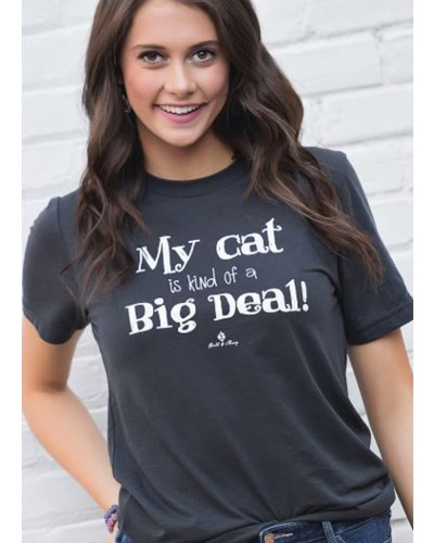 My Cat Is Big Deal in Dark Grey by Bell & May