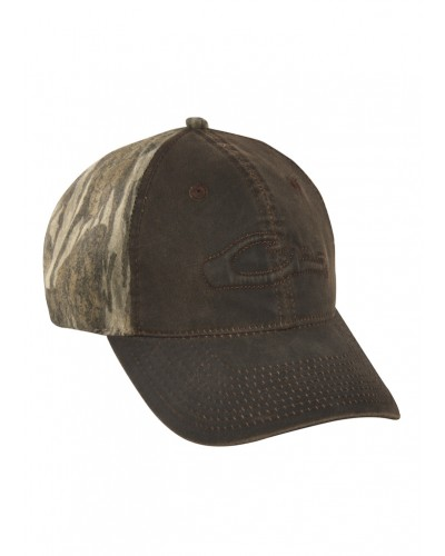 Six Panel Cott Wax Cap in Mossy Oak Shadow by Drake