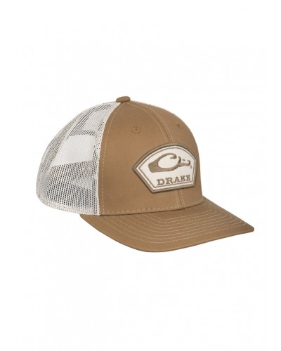 Arch Patch Mesh Back Cap in Brown/Putty by Drake