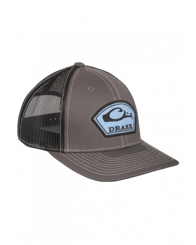 Arch Patch Mesh Back Cap in Charcoal/Black by Drake
