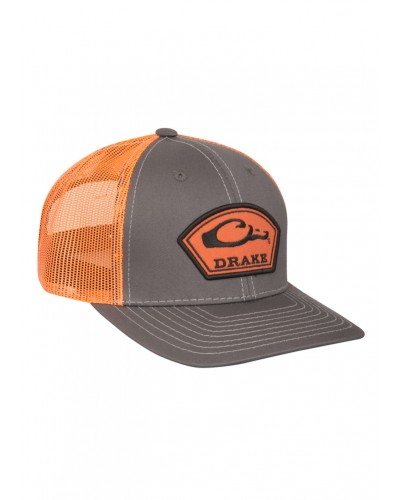 Arch Patch Mesh Back Cap in Charcoal/Orange by Drake