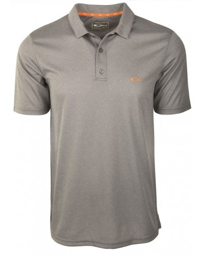 Heathered Polo in Charcoal Heathered by Drake