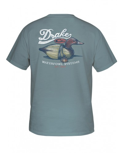 Southern Collection Canvasback Decoy Tee in Ice Blue by Drake