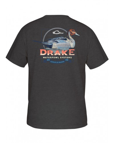 Southern Collection Pintail Tee in Charcoal Heather by Drake