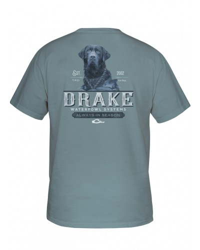 Southern Collection Black Lab Tee in Ice Blue by Drake