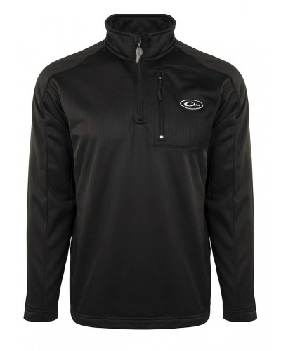 1/4 Zip Breathlite in Black by Drake