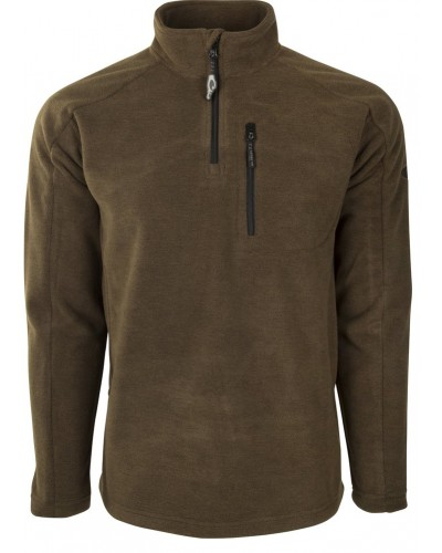 Heathered Windproof 1/4 Zip in Heathered Brown by Drake