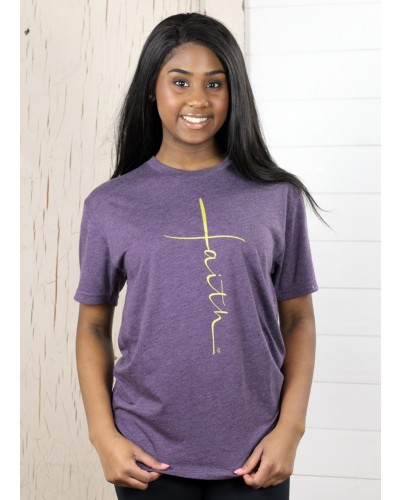 S/S Faith Tee in Vintage Plum by Truth Ink