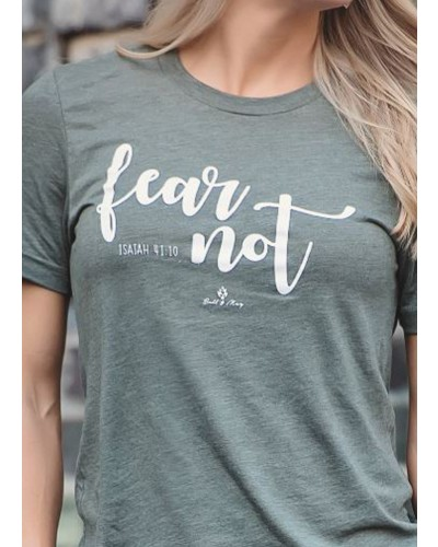 Fear Not Tee in Military Green by Bell & May